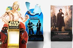 Cutout displays to promote products, services, movies, events
